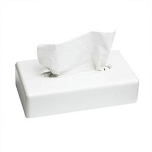 Белый пластиковый диспенсер для салфеток (для лица)