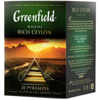 Чай Greenfield Rich Ceylon, черный, 20 пирамидок