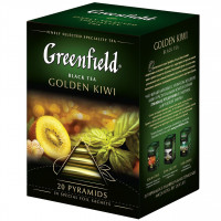 Чай Greenfield Golden Kiwi, черный, 20 пирамидок
